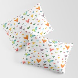 Multiculti Hearts Pillow Sham