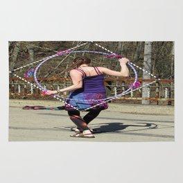 The Circle Inside the Square (Hula Hoop Series) Rug