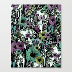 Mrs. Sandman, melting rose skull pattern Canvas Print