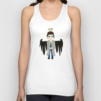 castiel Tank Tops featuring Castiel by Chrizzy0789