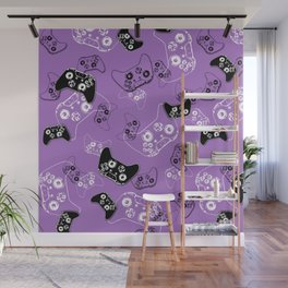Video Game Lavender Wall Mural