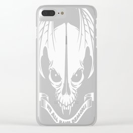 We All have Demons - Vampire Skull Clear iPhone Case