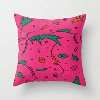 cities Throw Pillows featuring Cities by Amanda Trader