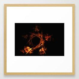 Fire pentagram Framed Art Print
