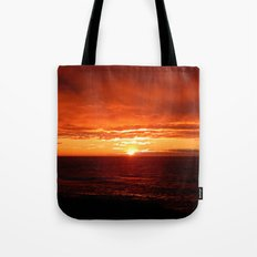 Sun Sets on the Mighty Saint-Lawrence Tote Bag