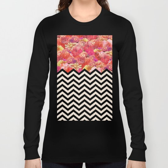 Chevron Flora Long Sleeve T-shirt