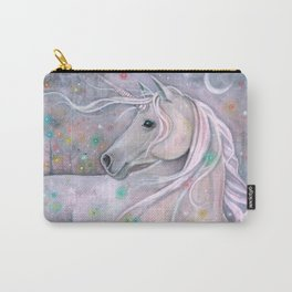 Twinkling Lights Unicorn Fantasy Watercolor Art by Molly Harrison Carry-All Pouch