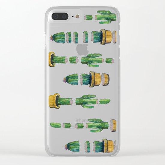 cut cactus Clear iPhone Case