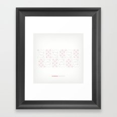 Hungarian Embroidery no.19 Framed Art Print