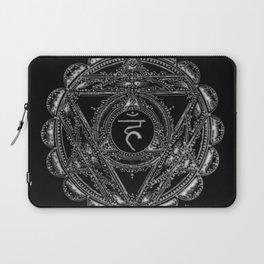 Black and White Throat Chakra Laptop Sleeve