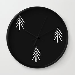 nordic fir trees Wall Clock