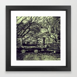 Abandoned mine equipment Framed Art Print