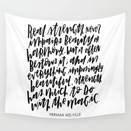 Herman Melville Quote Wall Tapestry