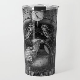 The Paddle Steamer Fireman (black & white) Travel Mug