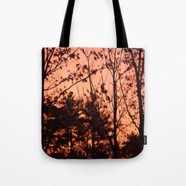 Sunrise in late Fall Tote Bag