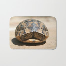 Land Turtle Hiding In Its Shell  Bath Mat