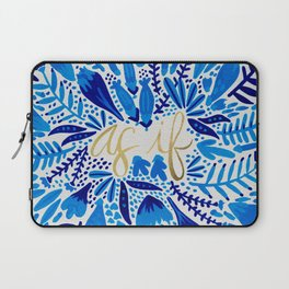 As If – Navy & Gold Laptop Sleeve