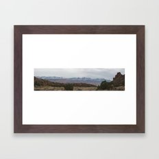 La Sal Mountains from Hidden Valley Framed Art Print