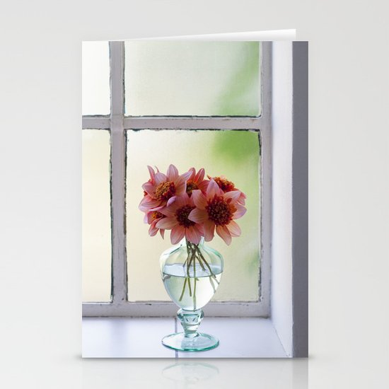 Dahlias in the soft September light Stationery Cards