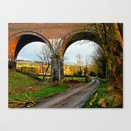 View through a viaduct. Canvas Print