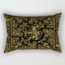 Mayan Spring GOLD Rectangular Pillow