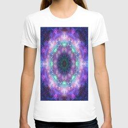 Trippy Purple Deep Space Mandala T-shirt