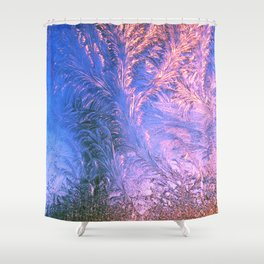 Ice Fractals Shower Curtain
