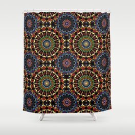 Stained Glass Mandalas Shower Curtain