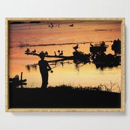 Little Boy Fishing Serving Tray