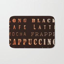Coffee Types Poster Bath Mat