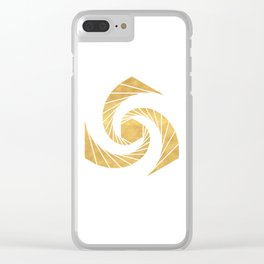 GOLDEN MEAN SACRED GEOMETRIC CIRCLE Clear iPhone Case