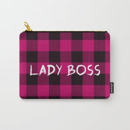 Lady Boss Plaid Carry-All Pouch