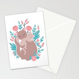 Mummy cat Stationery Cards