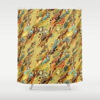 safari Shower Curtains featuring safari by lilumon