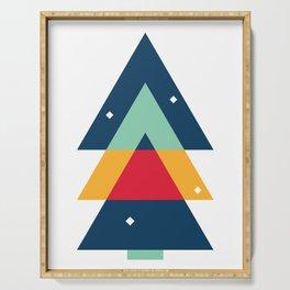 Geometric Christmas Tree Serving Tray