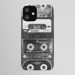 Something Nostalgic - black and white #decor #society6 #buyart iPhone Case