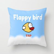 Flappy Bird Throw Pillow