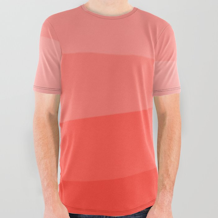 Diagonal_Living_Coral_Gradient_All_Over_Graphic_Tee_by_Abstract_Color__Large