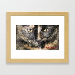 Golden Eyes. Hello Pearl Collection. Cat photography and art Framed Art Print