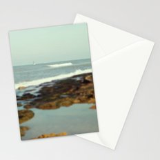Boat in the sea Stationery Cards
