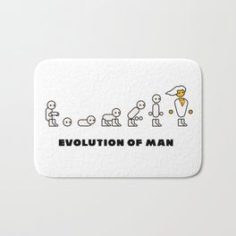 Evolution of Man PC master race Bath Mat