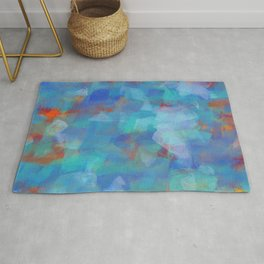 Paint Strokes Two Rug