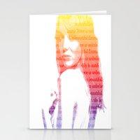 emma stone Stationery Cards featuring Emma Stone, Typography  by fghdjsk