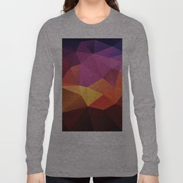 Abstract geometric triangle background Long Sleeve T-shirt