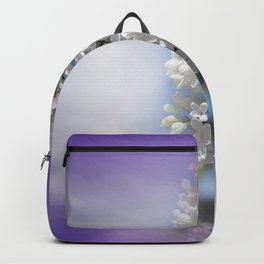 white lilac on textured background -a- Backpack