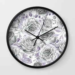 FLOWERS WATERCOLOR 30 Wall Clock