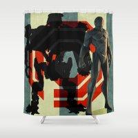 robocop Shower Curtains featuring Detroit's Finest - OCP Robocop by milanova