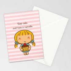 Keep calm and have a cupcake. Stationery Cards