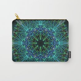 Kaleidoscope fantasy on lighted peacock shape Carry-All Pouch