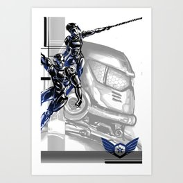 Pacific Rim: Team G! Danger Art Print
